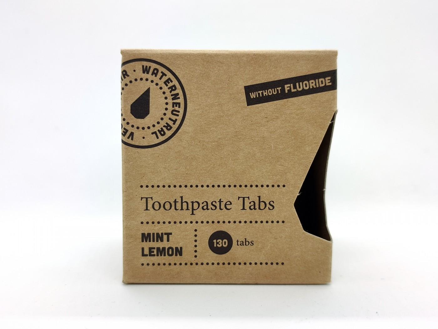 Zobna pasta v tabletkah meta in limona